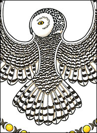 Arctic Summer Drawing by Kim Russell | Snowy Owl