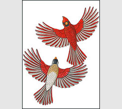 Cardinal Couple by Kim Russell | Cardinals
