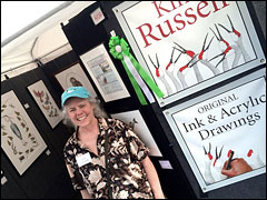 Kim Russell Best of Show at Spring Green Art Fair