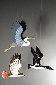 Bird Orniments by Kim Russell